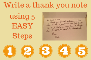 How to Write a thank you note in 5 steps