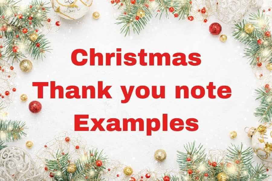 21 Christmas Thank You Notes With Examples With A Template And Tips