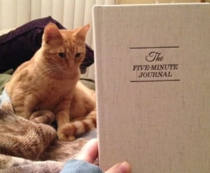 Five minute journal with kitty