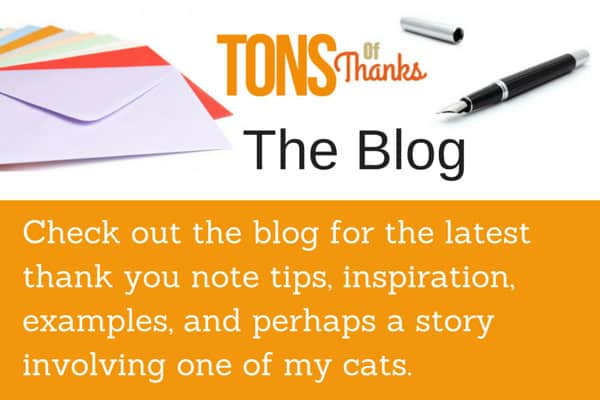 Tons of Thanks The Blog