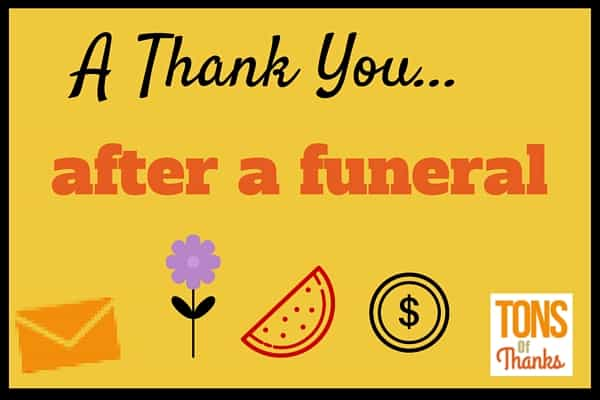 After funeral thank you note examples