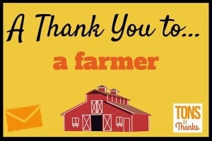 Thank You to a farmer