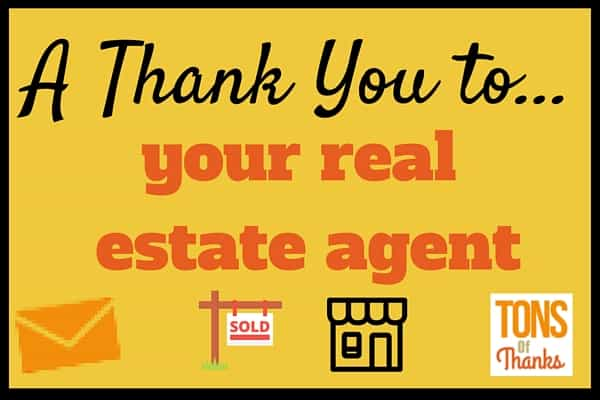 Real Estate Agent With A Thank You Note