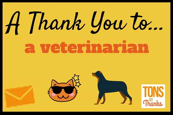 If your veterinarian has provided you and or pet exceptional service write them a handwritten thank-you note! This post includes thank you note examples.