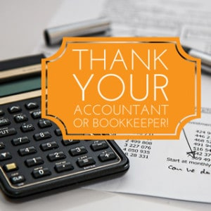 ccountant or bookkeeper thank you