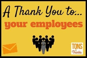 Thank you to employees - Team and Individual Thank You Note Examples