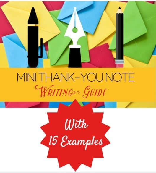 Mini Thank You Note Writing Guide