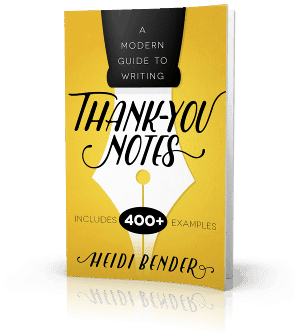 Thank you note writing book