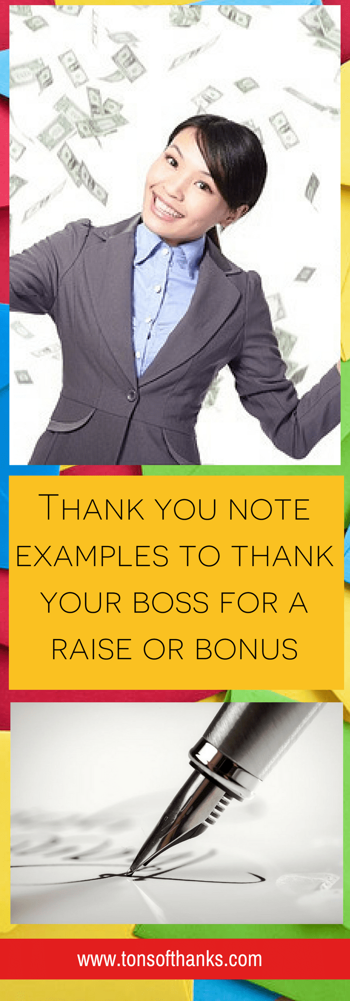 Thank your boss for a bonus or raise