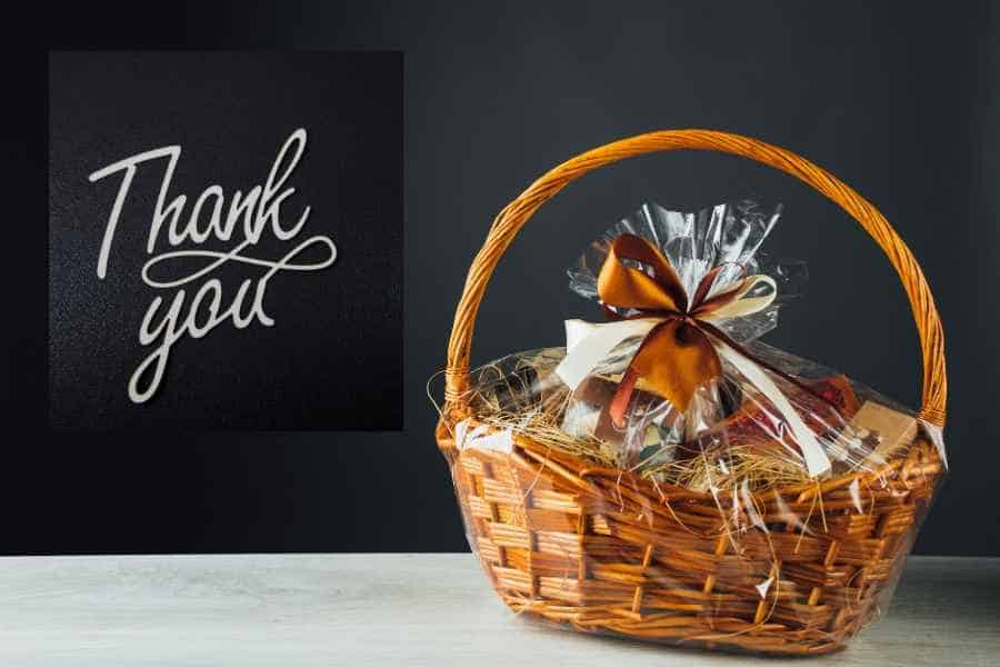 23 Thank You For The Gift Basket Example Notes