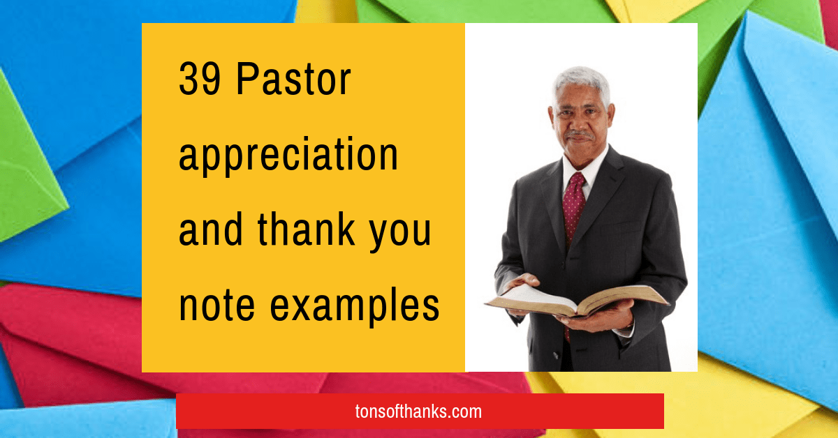 Pastor Thank You Letter To Congregation | invacation1st.org