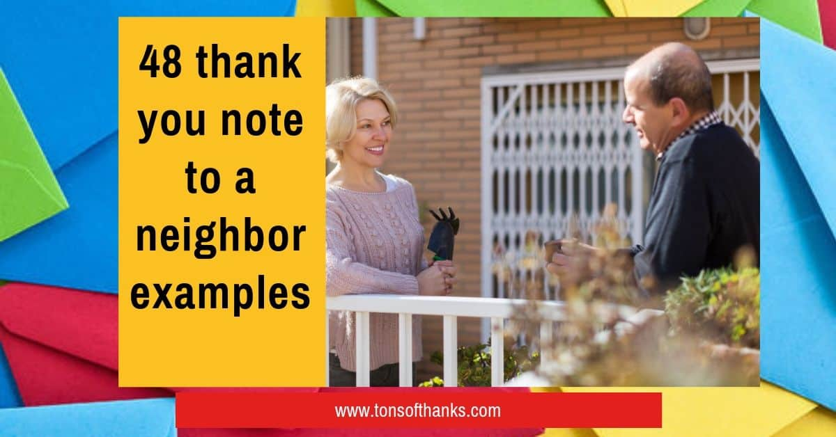 48 Thank You Note To A Neighbor Examples
