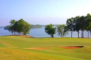Golf Course overlooking a lake